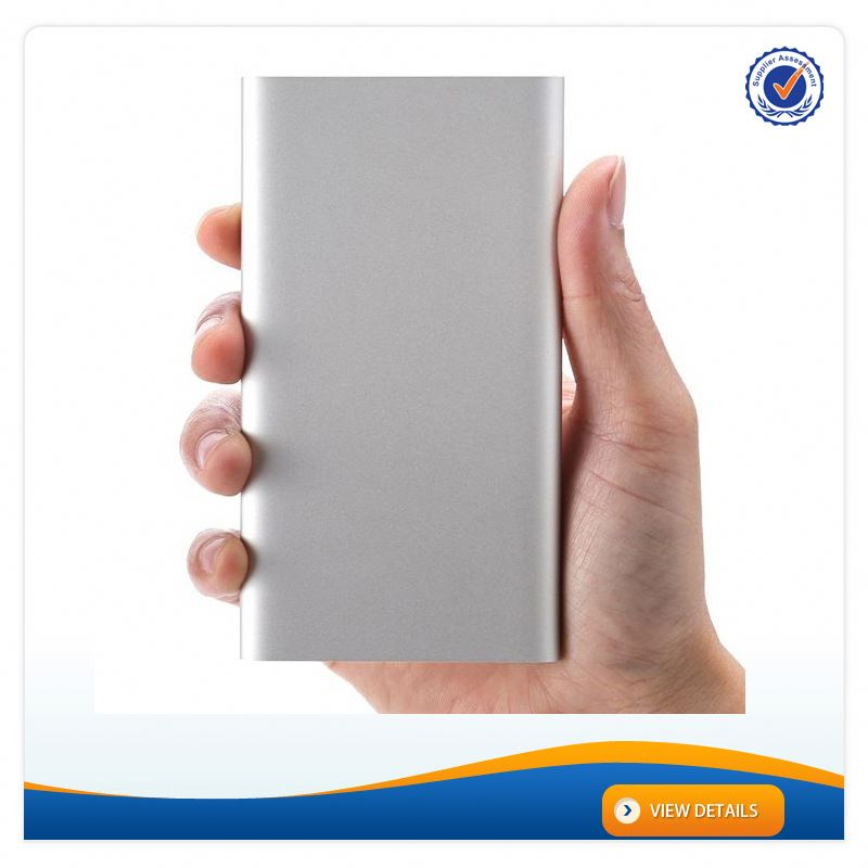 AWC925 For Xiaomi Metal Case Silver Slim Power Bank 4000mAh External Battery Polymer Lithium ion Battery Charger