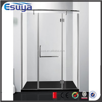 Shanghai Esuya low price 8mm tempered glass shower partition for bathroom