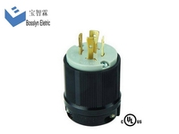 L15-20P 20 Amp 250 Volt 3-Phase best quality best selling 3 pin locking plug ac power cable