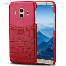 LANGSIDI Fashion Genuine Leather Case Cover for Huawei mate 10/10pro cowhide leather case Manufacture In China