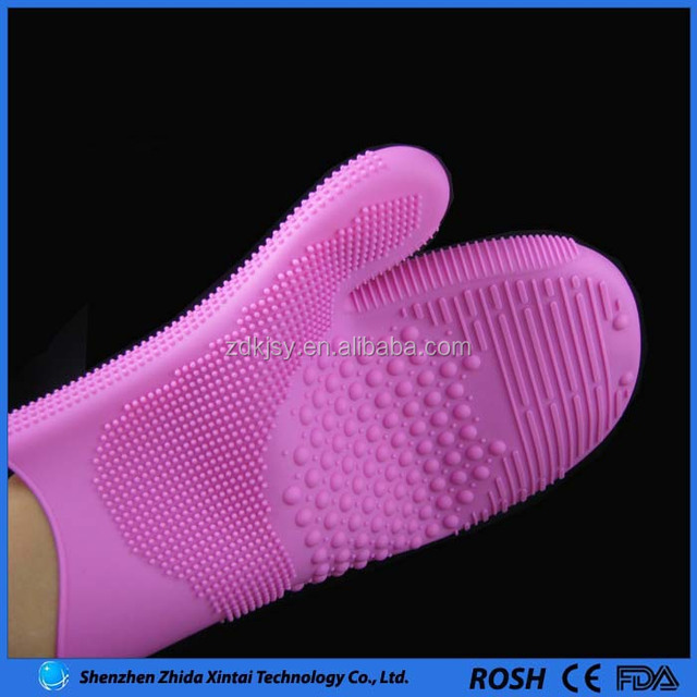 ample supply and prompt delivery silicone rubber gloves for massage