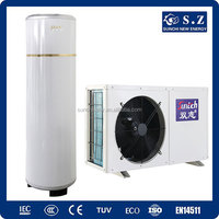 CE,TUV,Australia certificate 220V R410A 3kw,5kw,7kw,9kw COP4.2 ,max 60deg.C shower DHW tankless air to water heatpump split