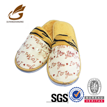 Close-toed Wholesale Sex Man With Woman Guest Slippers Decorated Slippers