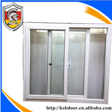60 series conch upvc push- pull window with tempered glass
