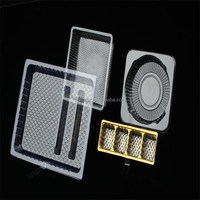 disposable eco-friendly PET / PVC/ PP plastic food tray /biscuit /cookie/cake/ bread container used
