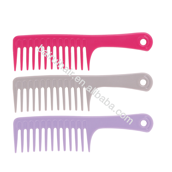 Wholesale plastic large tooth hair shampoo comb detangling comb