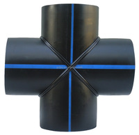 Butt welding plastic cross PE pipe fittings
