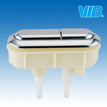 Toilet Tank Fittings , Cistern Flushing Mechanism Top Mount Button