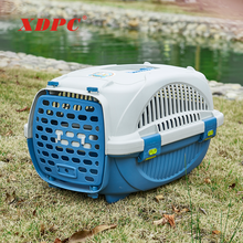XDB-407 Wholesale small animal transport cage transport plastic pet travel box bed house for dogs