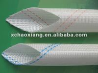 VG201 fiberglass braided sleeving coated with pvc resin for wire protection