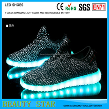 2016 New Arrivals LED Shoes for Women and Men Light Up Casual Shoes for Adults USB Charger Yeezied Shoes 35-46