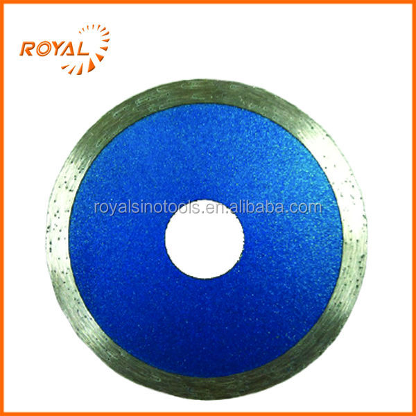 For wet cutting tile and ceramic,blue-coated high quality continuous rim blade