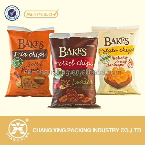 Custom design food grade pet snack/potato chips/popcorn/chocolate candy plastic packaging bags (up to 10 colors)