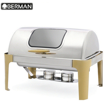 Restaurant hotel supplies buffet food warmer rectangle induction india chafing dish for catering