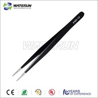 Antistatic ESD-12 stainless steel industrial tweezers