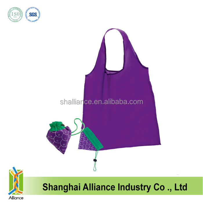 Hot folding fruit shape reusable promotion textile shopping bag