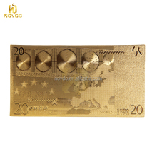 Hot sell euro 20 dollar bill gold foil banknotes