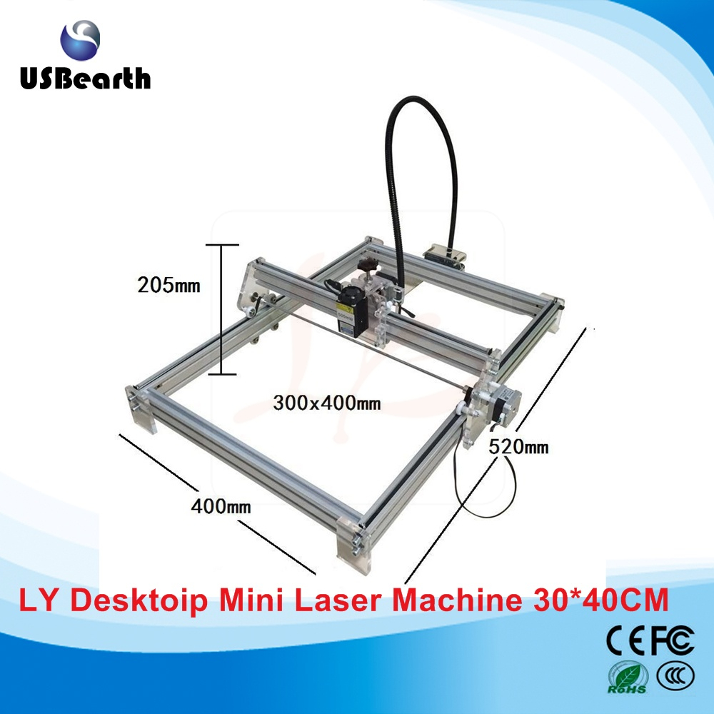 Disassembled LY 10W <strong>laser</strong> 10000MW diy <strong>laser</strong> 30*40cm metal engraver marking machine