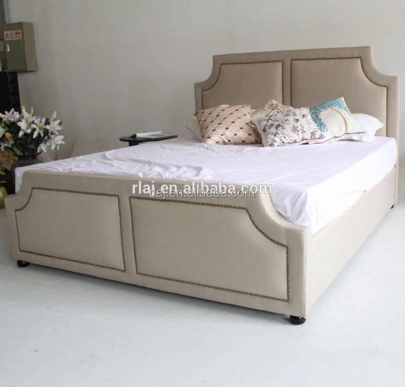 Modern furniture home design latest white double bed frames in China
