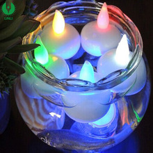 New Style Small Waterproof Glow LED Candle Bright Tea Light With Battery Color Glowing Flameless Moving Wick Candles