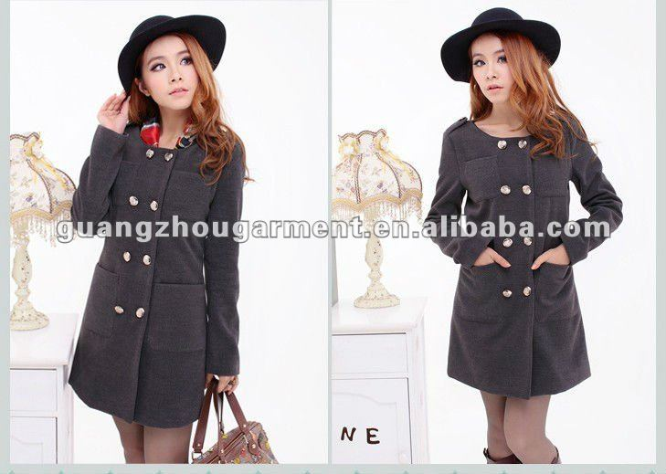 OEM formal long dress coats women