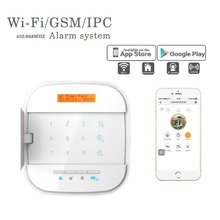 2016 NEWEST 868MHZ WIFI/IP/GSM smart home security alarm system