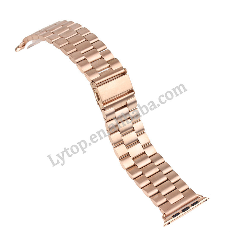Luxury stainless steel replacement bench watch straps for apple watch 38mm/42mm