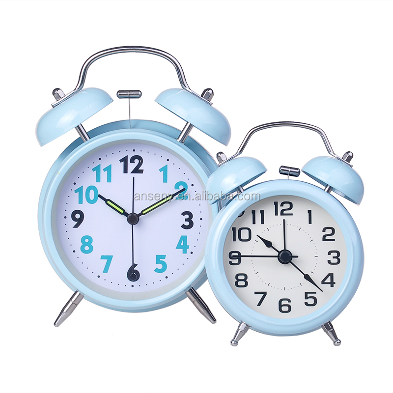 ringing bell alarm clock / twin bell table clock / table stand desk clock