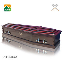 AT-E032 good quality wooden coffin price