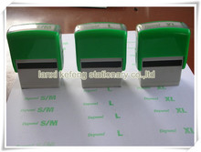 plastic self inking office rubber stamp
