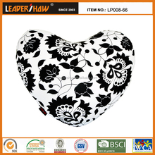 2015 the fashion printing heart shape sleeping pillow with the microbeads