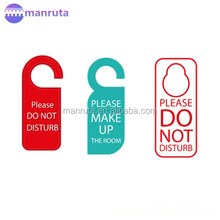 Custom Design Hotel PVC Plastic Door Hanger/Plastic sign hanging on the door Manruta leading manufacture