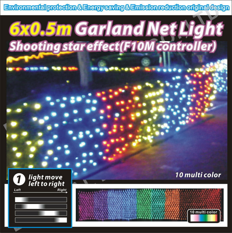 Multi-color mode Waterproof net decorative outfit LED lights