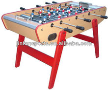baby foot game table with metal player and metal corner