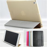 3 folded TPU back cover leather case for ipad mini with Retina display