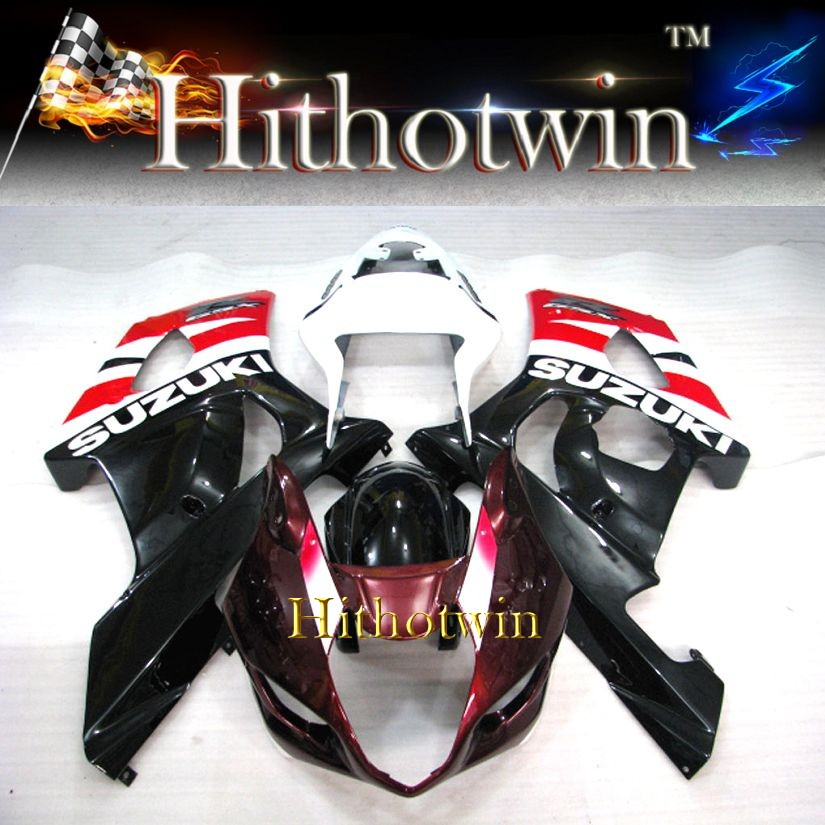 GSXR1000 2003 2004 ABS Fairing Set for Suzuki red white black fairings GSXR1000 2003 2004 GSXR1000 03 04 K3 Plastic Kits