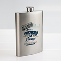 Print my own design sublimation silver flagon blank stainless steel wine bottle
