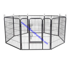 8 Panels Metal Pet Dog Puppy Cat Exercise Fence Barrier Playpen Kennel
