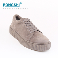 Manufacturer grey pink fashion campus creeper thick sole shoes for women