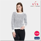 Factory price pullover latest design ladies sweater for women