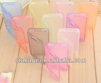 Color Full TPU Clear Moblie Flip Cover for iPhone 5 5s with Dust Plug