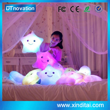 Creative Glowing Plush Pillow Led Colorful Stuffed Star Toys