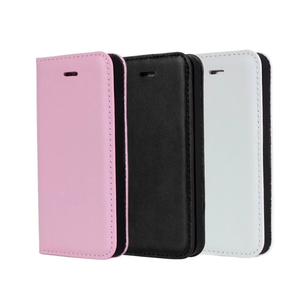 Manufacturer Wholesale Genuine Leather Wallet Luxury Cow Cellphone Case For iPhone 5 5S 5G Phone Covers