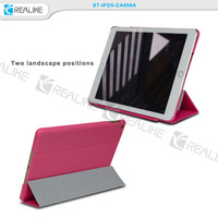 book style leather case for ipad air tablet with sleep function