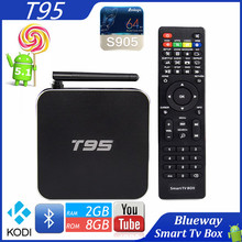 Original Amlogic S905 Quad Core T95 Android TV Box 2GB Ram Full HD 4K Bluetooth 4.0 WiFi Dual WIFI Smart TV Android Box