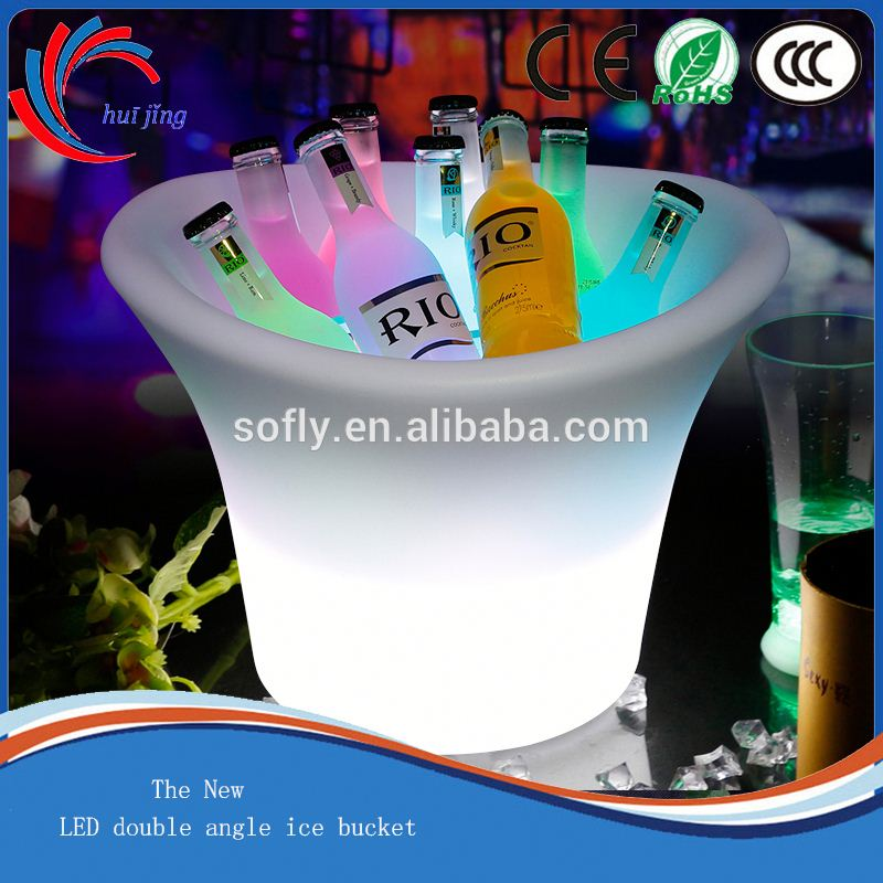 Big Volume LED Bucket with ice /colorful led ice bucket