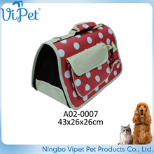 2017 manufacturer selling lovely foldable dog kennel pet carrier bag