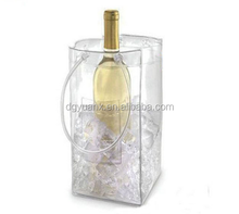 New design hot sale clear pvc plastic wine bags