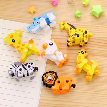 cute assembly animal rubber eraser