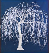 Outdoor or Indoor LED lighted willow tree, artificial weeping willow tree